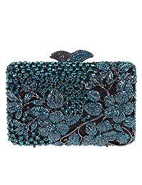 Fawziya Rhinestone Flower Purse For Women Clutch Evening Bag