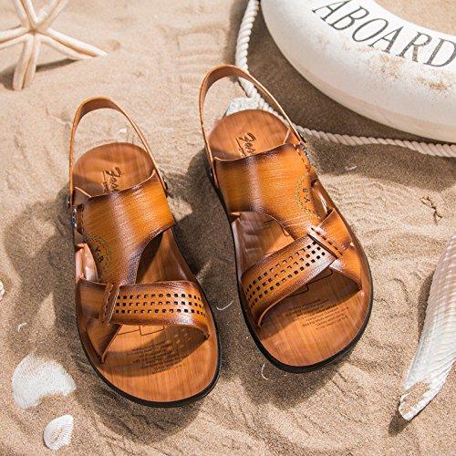 Sommer Mode Das neue Faser Sandalen Männer Strand Schuh Atmungsaktiv Freizeit Männer Sandalen ,Gelb,US=10,UK=9.5,EU=44,CN=46