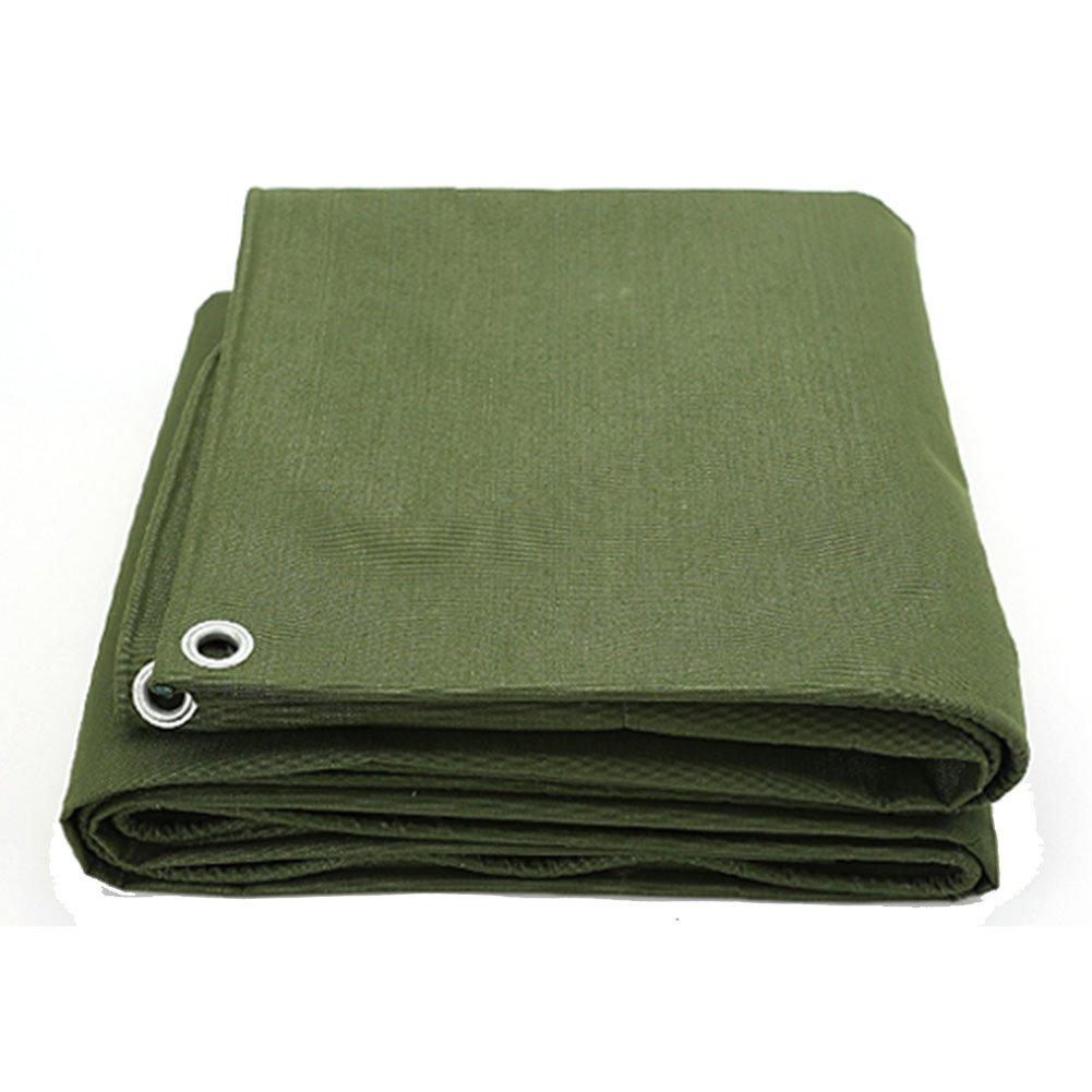 JIANFEI オーニング 防水 耐寒性日焼け止め無臭耐摩耗ポリエステル糸、厚さ0.8mmカスタマイズ可能 (色 : Green, サイズ さいず : 4x4m) B07FT1QGH7 4x4m|Green Green 4x4m