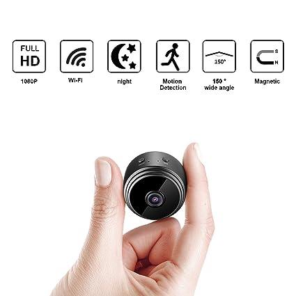 Mini Camara Espia Oculta Videocámara, 1080P HD Cámara Vigilancia Portátil Secreta Compacta con Detector de