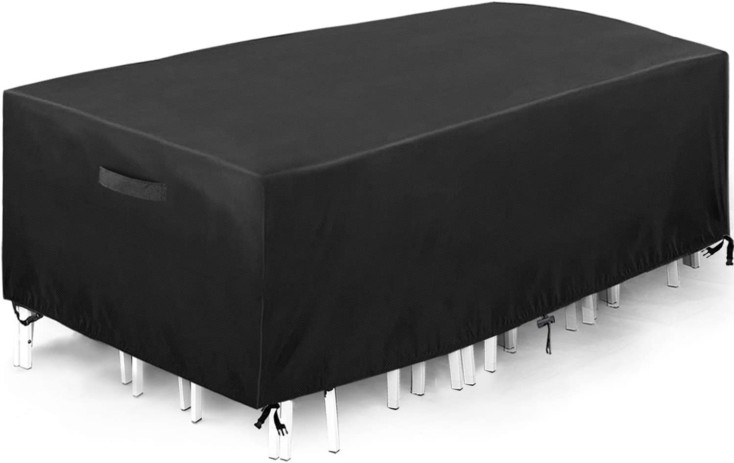 """king do way Outdoor Patio Furniture Cover 230X165X80cm Waterproof Patio Table Covers,Oxford Polyester,Windproof, Anti-UV, Dust Proof Protective Covers, Large Size 90.55""""X64.96"""" X31.49"""""""