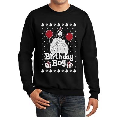 Amazon.com: Jesus Birthday Boy Ugly Christmas Sweater Xmas Holiday ...