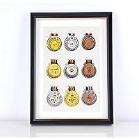 XXCC Medailleframe voor orden, eresteken medailledisplay, fotolijst, houten fotolijst met glazen vitrine voor orden en…