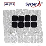 Syrtenty TENS Unit Electrodes Pads 2x2 44 Pcs Replacement Pads Electrode Patches for Electrotherapy