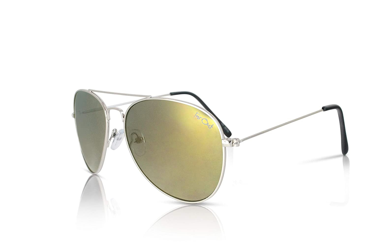 11b9a014fd Affordable Polarized Sunglasses Gold Lens Fliers at Amazon Men s Clothing  store