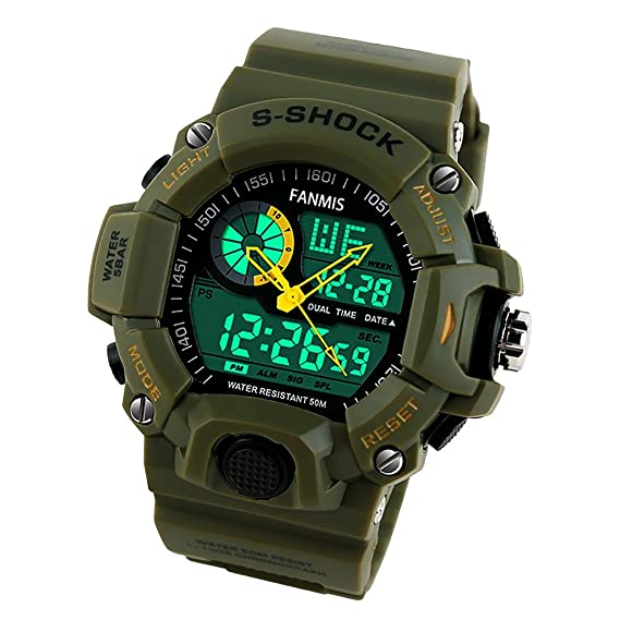 Sharplace SKMEI - Reloj digital deportivo para hombre, resistente al agua, camuflaje, gran regalo de Navidad para niños y adolescentes: Amazon.es: Relojes