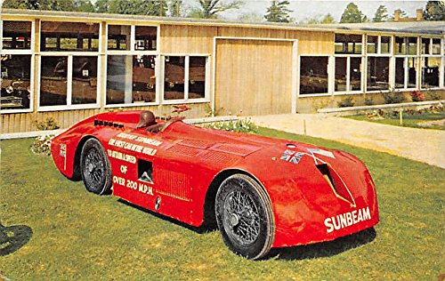 Montagu Motor Museum, 1927 1,000hp Sunbeam Old Vintage Auto Racing Postcard Post Card