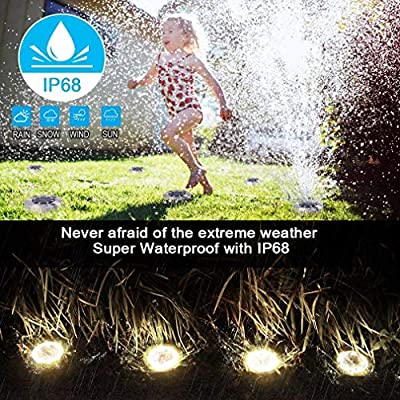 ladiy Portable Waterproof LED Solar Lawn Light Ground Light Garden Light In-Ground Lights: Home & Kitchen