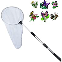 Telescopic Insect and Butterfly Net Catching Insects Bugs Fishing Nets with 11 Inches Ring, Handle Extends to 36.5 Inches