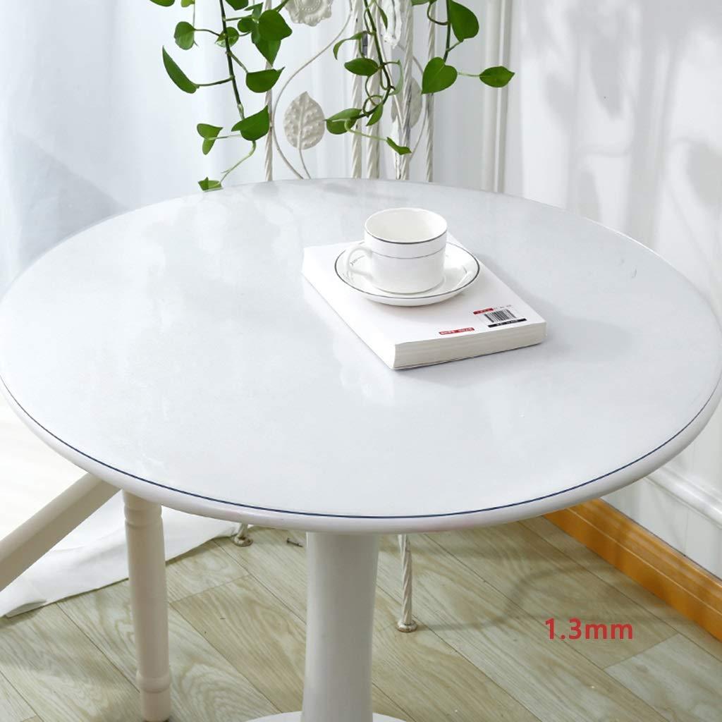 Qiao jin Tischdecke Umweltfreundliche PVC Runde Tischdecke Wasserdicht Und ÖlBesteändige Tischdecke Verbrühschutz Pad Leinen Grill Camping 140 cm Tischdecken (Farbe   A, größe   1.3mm) A 1.3mm