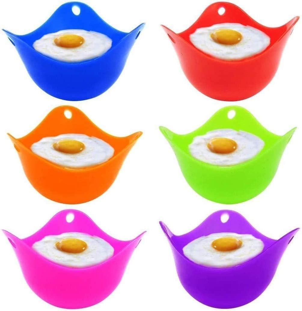chaudi/ère moules /à pocheuse micro-ondes ou cuisini/ère pochoir /à /œufs capsules en silicone Lot de 6 tasses /à /œufs cuisson parfaite pour les /œufs poch/és