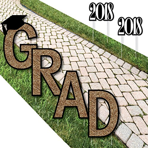 Gold Tassel Worth The Hassle – Grad Yard Sign Outdoor Lawn Decorations – Graduation Party Yard Signs – GRAD