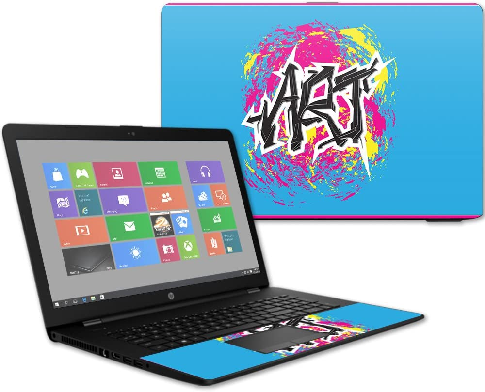 "MightySkins Skin Compatible with HP 17t Laptop 17.3"" (2017) - Art Graffiti 
