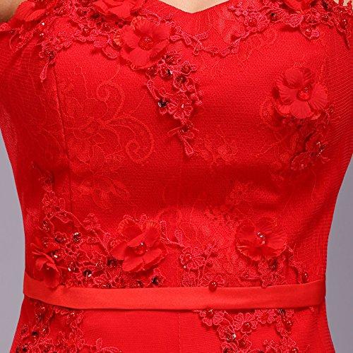 Lemandy De Longue Soirée Robe Rouge rFqw5rg