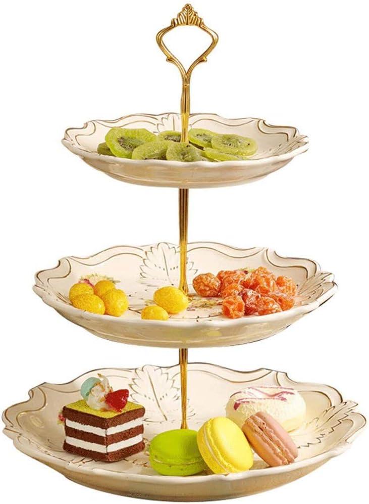 ZHJXQ ガラスフルーツスタンド - ケーキ、デザート、テーブルの上の家の装飾のためのサーバでトレイ層サービストレーに最適