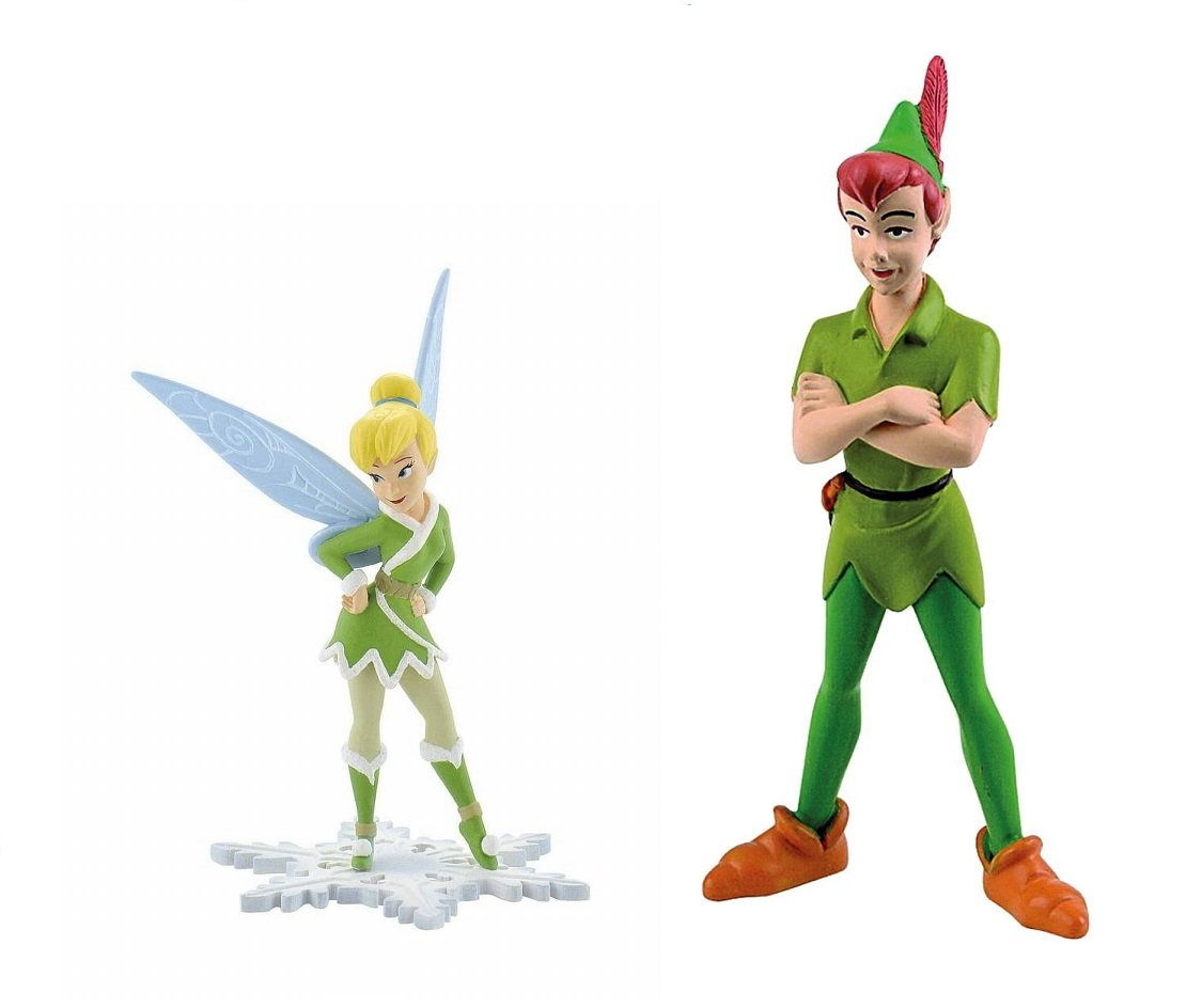 Disney's Peter Pan and Tinkerbell Tink Birthday Party Cake Toppers