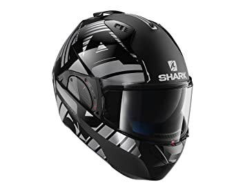 HE9704EKUA : Casco moto SHARK EVO-ONE 2 LITHION DUAL NEGRO CROMO ANTRACITA talla L