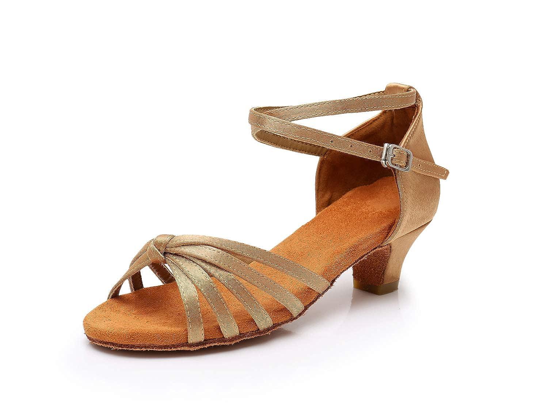 75ce39c6a Amazon.com | HIPPOSEUS Women's Latin Dance Shoes Ballroom Dancing Shoes, Low  Heel 4CM, Model WH-XGG | Ballet & Dance