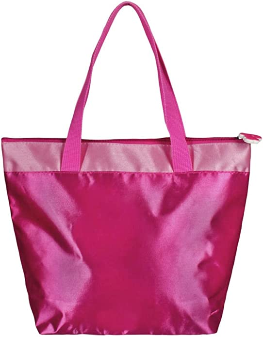 Les Princesses Disney Sac /à main satin/é enfant fille Rose fonc/é 28x21cm