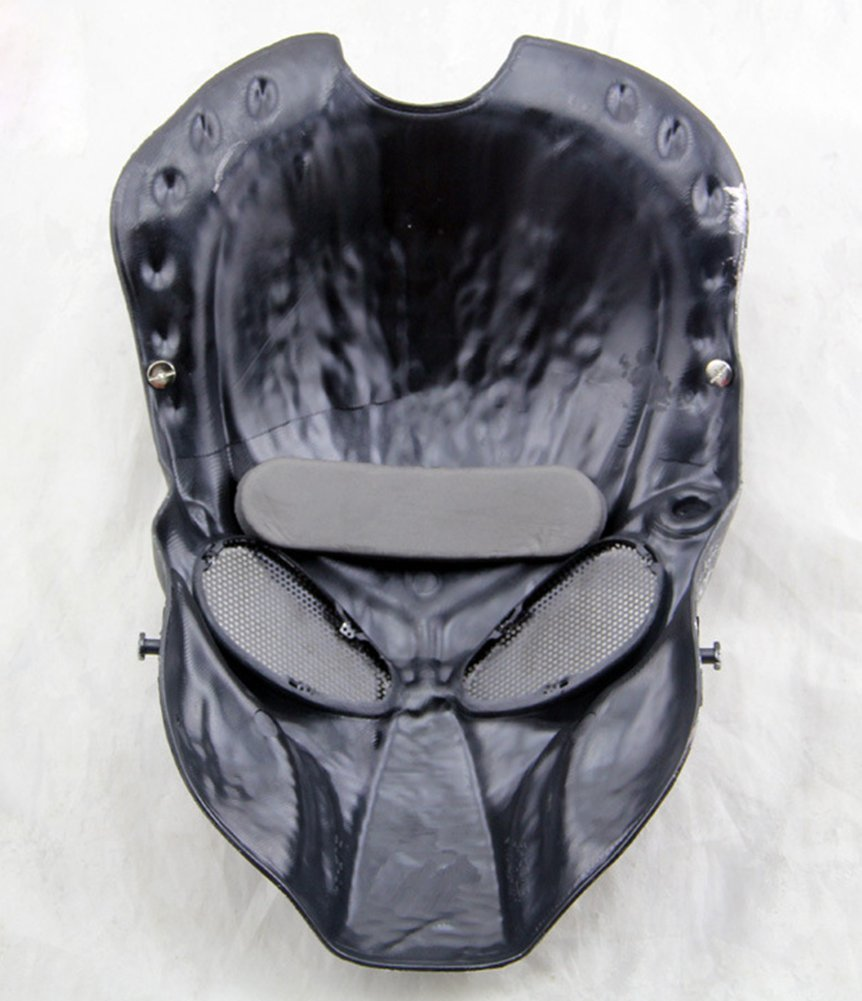 Amazon.com : Gmasking Predator AVP Airsoft Protection Paintball Mask (Black)+Gmask Keychain : Sports & Outdoors