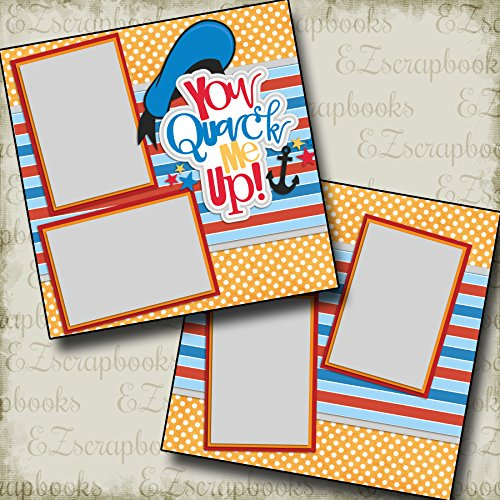 YOU QUACK ME UP - Premade Scrapbook Pages - EZ Layout 2236