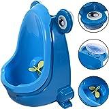 Costway Baby Kid Children Potties Urinal Toilet Training Boy Bathroom Frog Pee Trainer (Blue)