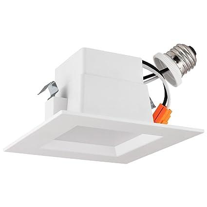 LB13134 4u201d LED Downlight Square Dimmable 10W (75W) Retrofit LED Recessed  sc 1 st  Amazon.com & LB13134 4