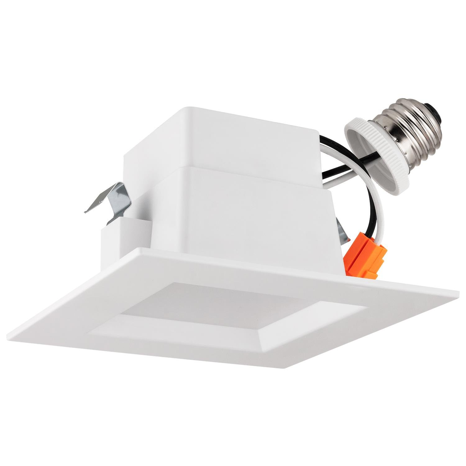 "LB13136 4"" LED Downlight Square, Dimmable, 10W (75W) Retrofit LED Recessed Lighting Fixture, 4000K Cool White Glow, 700 Lumens, LED Recessed Ceiling Light, Waterproof, Energy star & UL (4-PACK)"