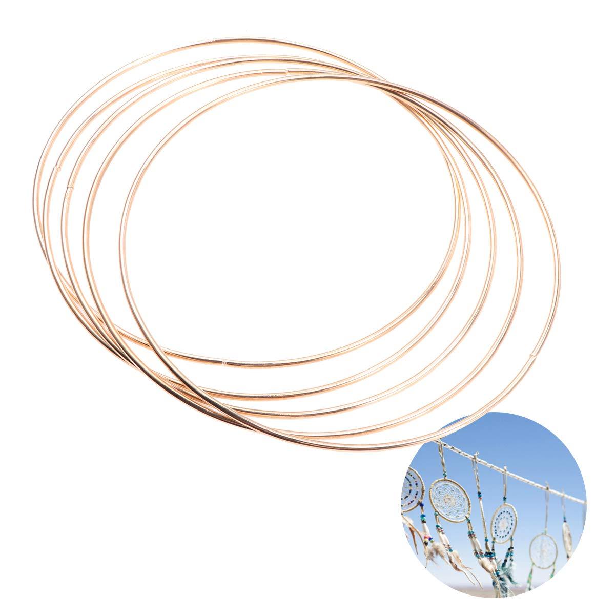Makramee Ring St/ärke ca Rayher 2505006 Metallring Floristik f/ür Wickeltechnik Drahtring zum Basteln 10 cm /ø gold beschichtet Traumf/änger Ring 3 mm
