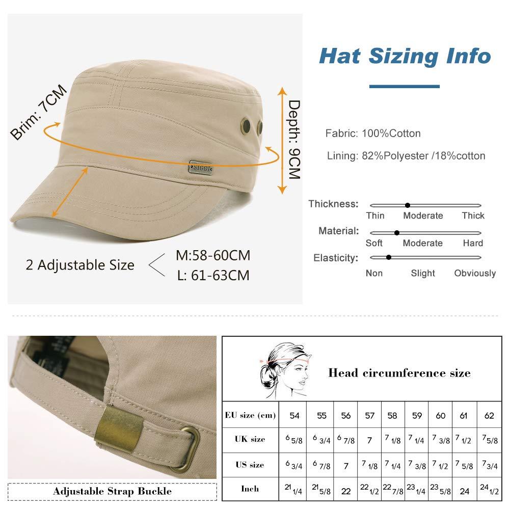 Womens Cotton Army Military Sun Radar Size 8 Combat Hat Men Large Head Baseball Cap XXL Green by Fancet (Image #3)