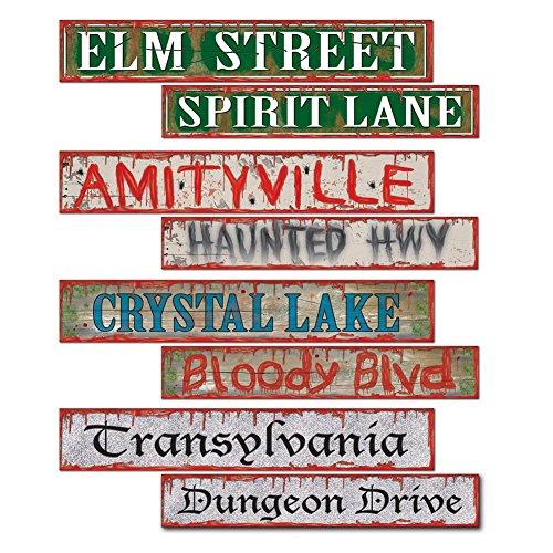 Beistle Halloween Street Sign Cutouts