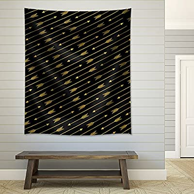 Golden Arrows on a Black Background, Quality Creation, Astonishing Piece