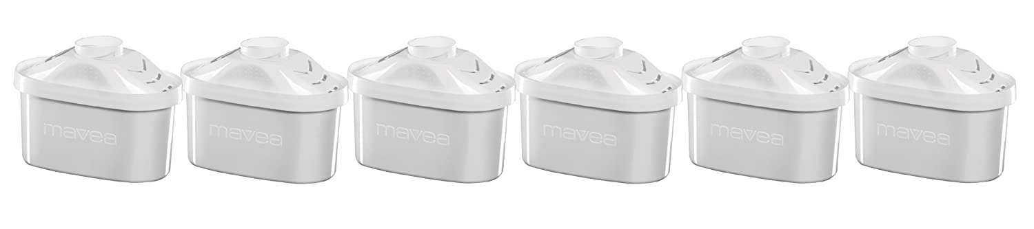 MAVEA 105731 Maxtra 6-Pack Replacement Filter for MAVEA Water Filtration Pitcher