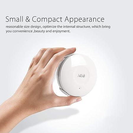 Tellaboull Inteligente Sensor de Agua WiFi Sensor de inundación Sistema de Alarma automático para el hogar Detector de Fugas Aplicación de notificaciones No ...