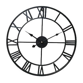 Amazonde Baoblaze Vintage Große Uhr Wanduhr Römische Zahlen