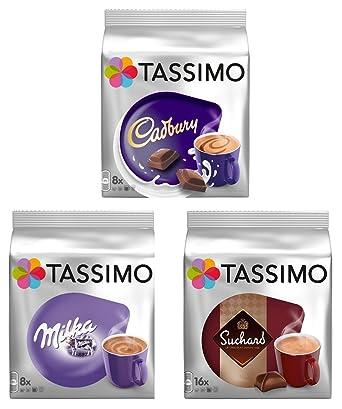 Tassimo T Discs Pods Hot Chocolate Pack Milka Cadbury Suchard 32 Pods