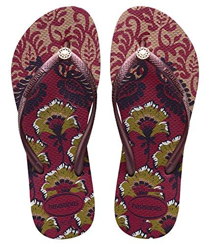 Havaianas Womens Slim Royal Sandal Flip Flop, Beet 35BR/6W - Shop Havaianas