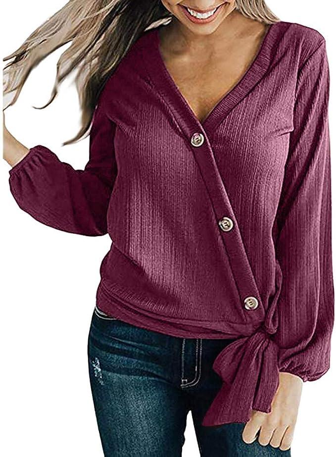 Linlink Blusa de Mujer Liquidación Temporada de otoño e Invierno V ...