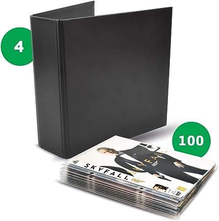 Pack DVD – 100 Fundas de DVD y 4 Carpetas DVD: Amazon.es: Hogar