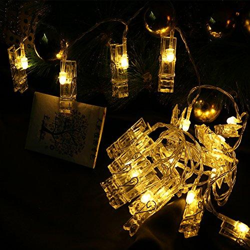 Led Bedroom Lights Decoration: Holidayli 20 LED Photo Hanging Clips String Lights For