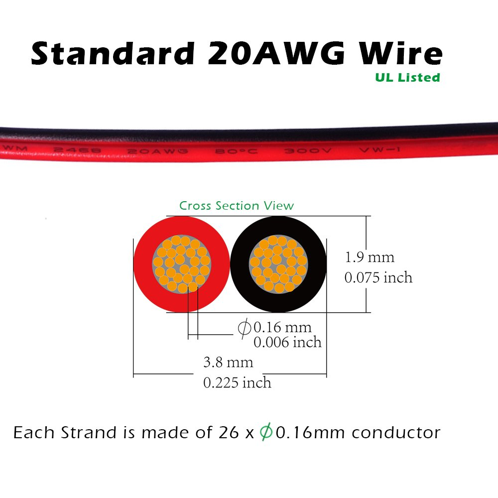 5050 Connector Terminal 2 Pin for WATERPROOF 10mm Singe Color With  Extension Wire 9.8 ...