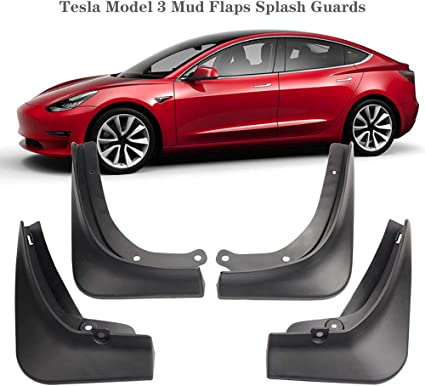 4pcs Car Mud Flaps Front Rear Splash Guards Fenders for Tesla Model 3 2019