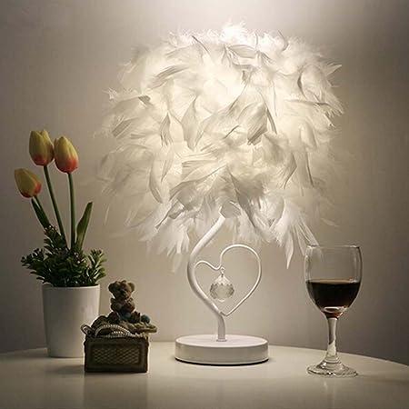 Amazon.com: ledmomo lámpara de mesa, en forma de corazón ...