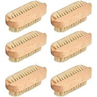 6 stycken nagelborstar trä fingerborste handborste med grisborst nagelrengöringsborste hårda borst fingerborste…