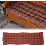 Indoor/Outdoor Bench Cushion,Patio Loveseat Swing Cushion for Lounger Garden Furniture Patio Lounger Bench (Coffee…