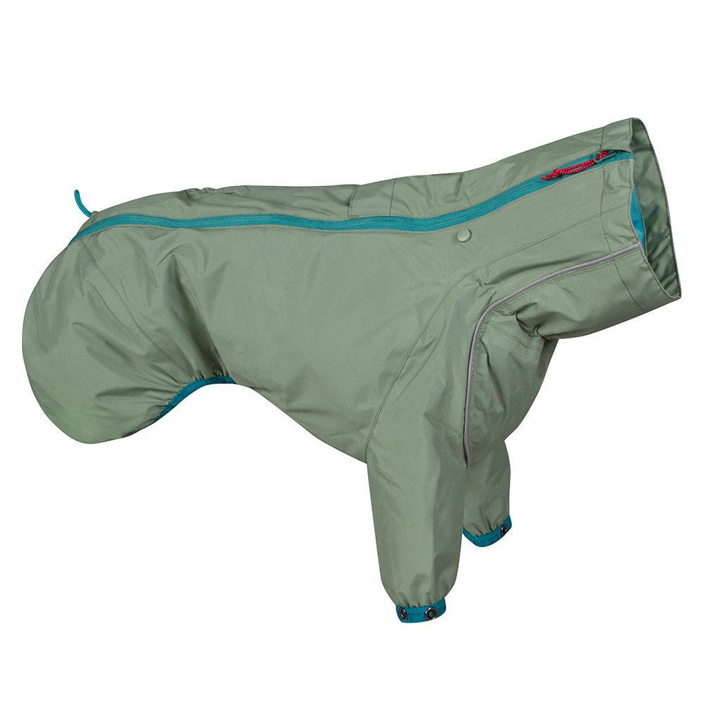 Hurtta Rain Blocker ECO, Dog Raincoat, Hedge, 14 in