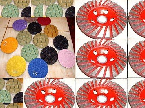 "9 Piece Floor Travertine 4/"" Typhoon Granite Concrete 10mm Thick Polishing Pad"