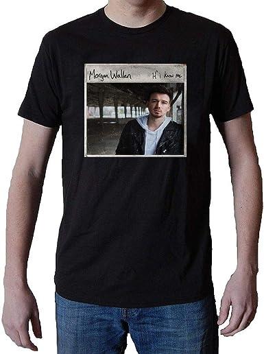 Amazon Com Cwgoodg Men S Morgan Wallen If I Know Me T Shirt Tee Black Clothing