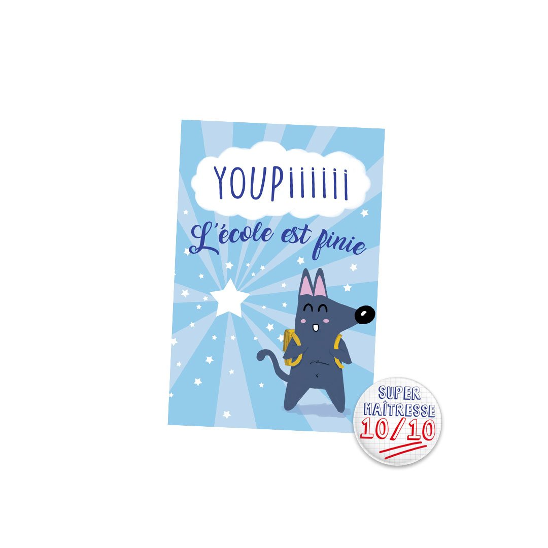 Kit Youpiii Super Maîtresse – Carte et badge