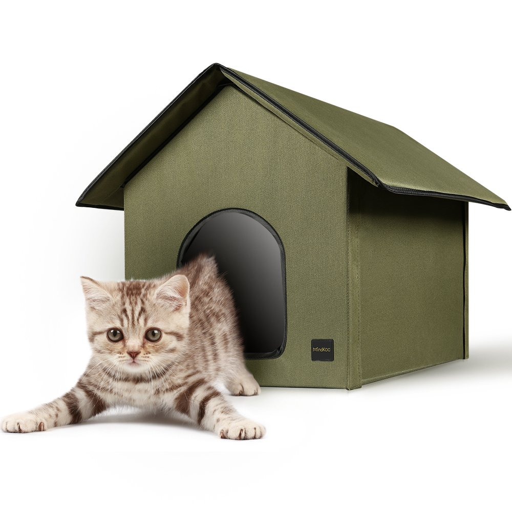 Mindkoo Pet House Army Green